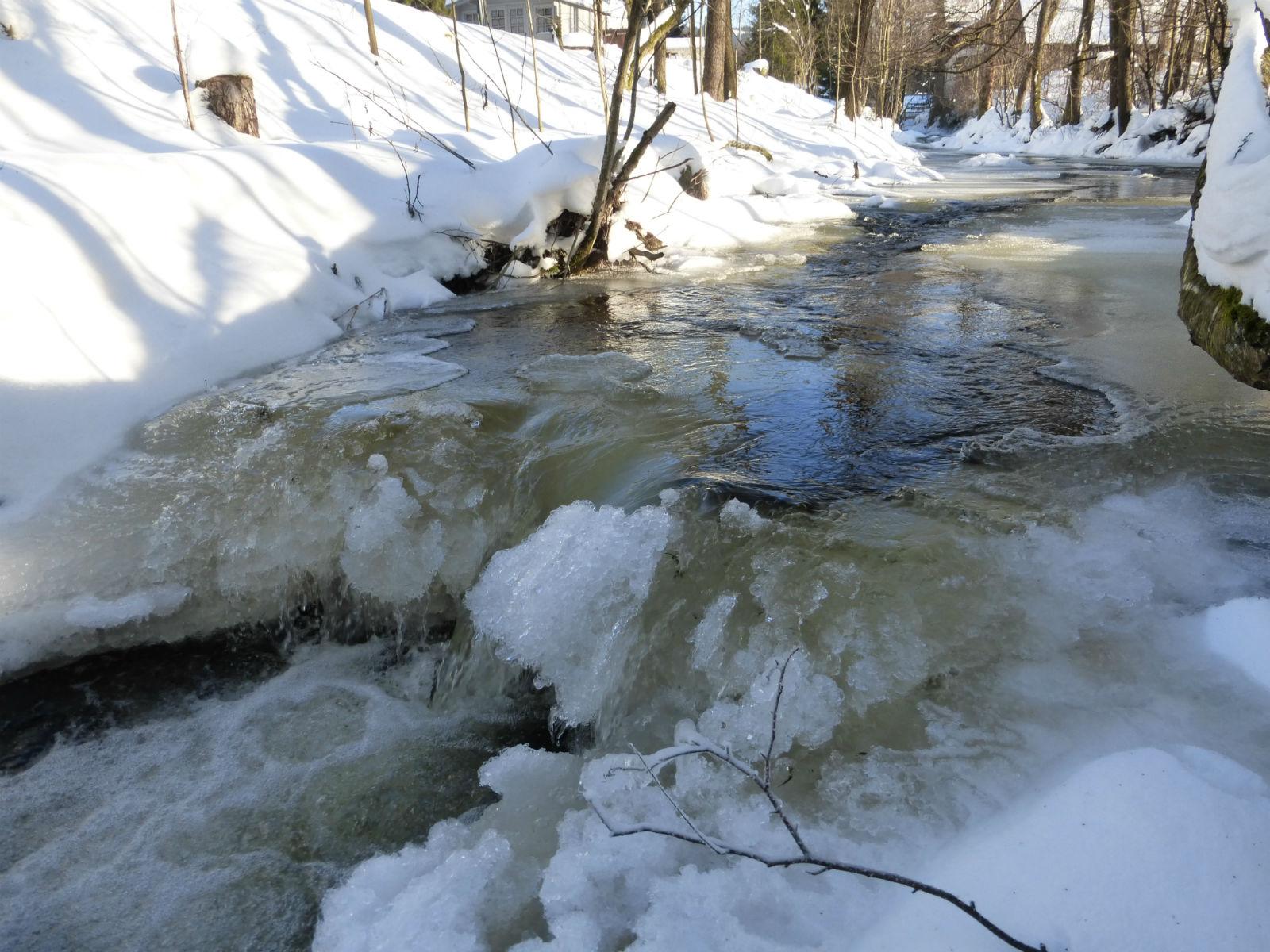 Fichtelgebirge-Bach-Eis-Winter-Winterlandschaft
