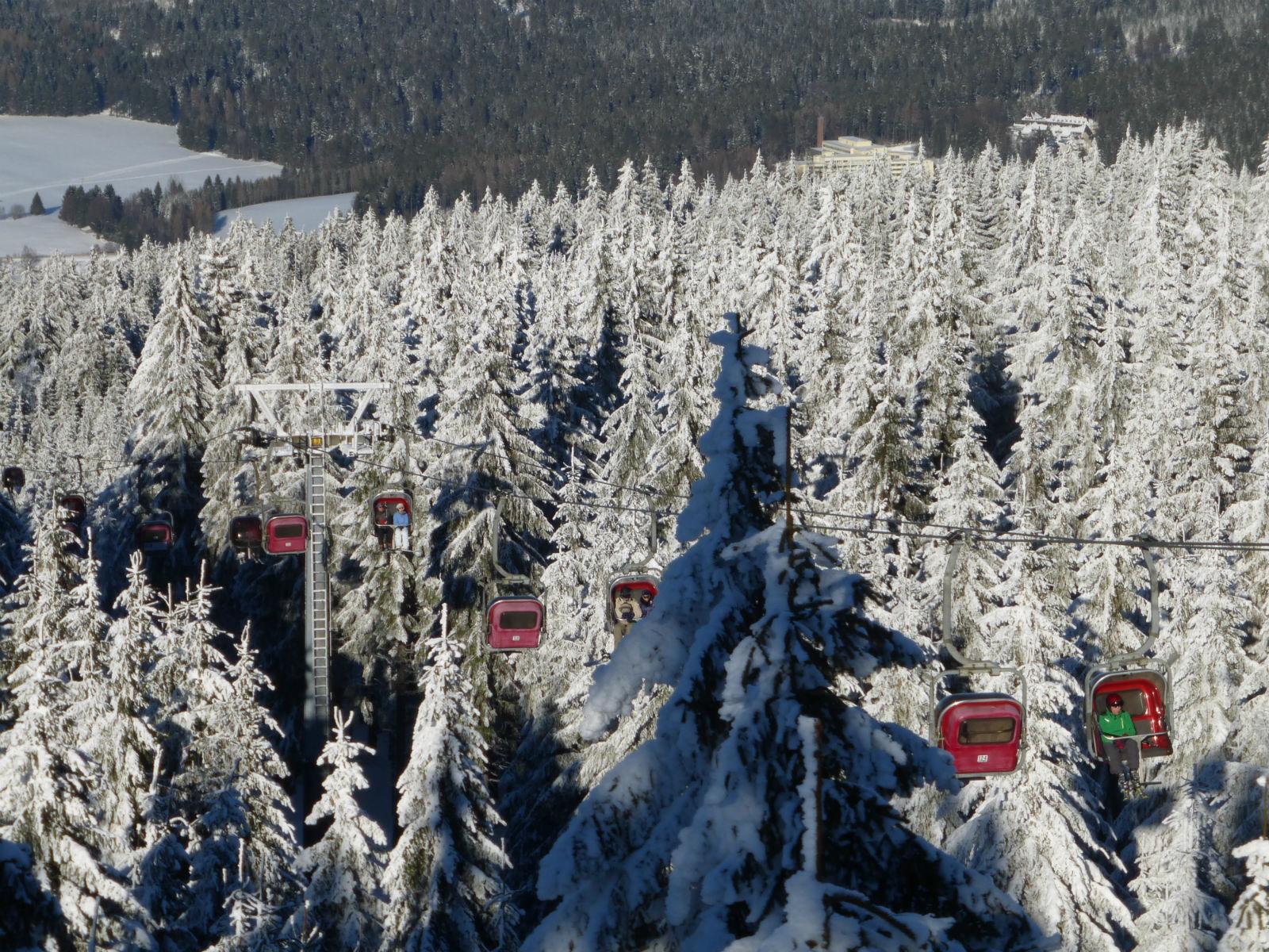 Fichtelgebirge-Skifahren-Seilbahn-Aussicht