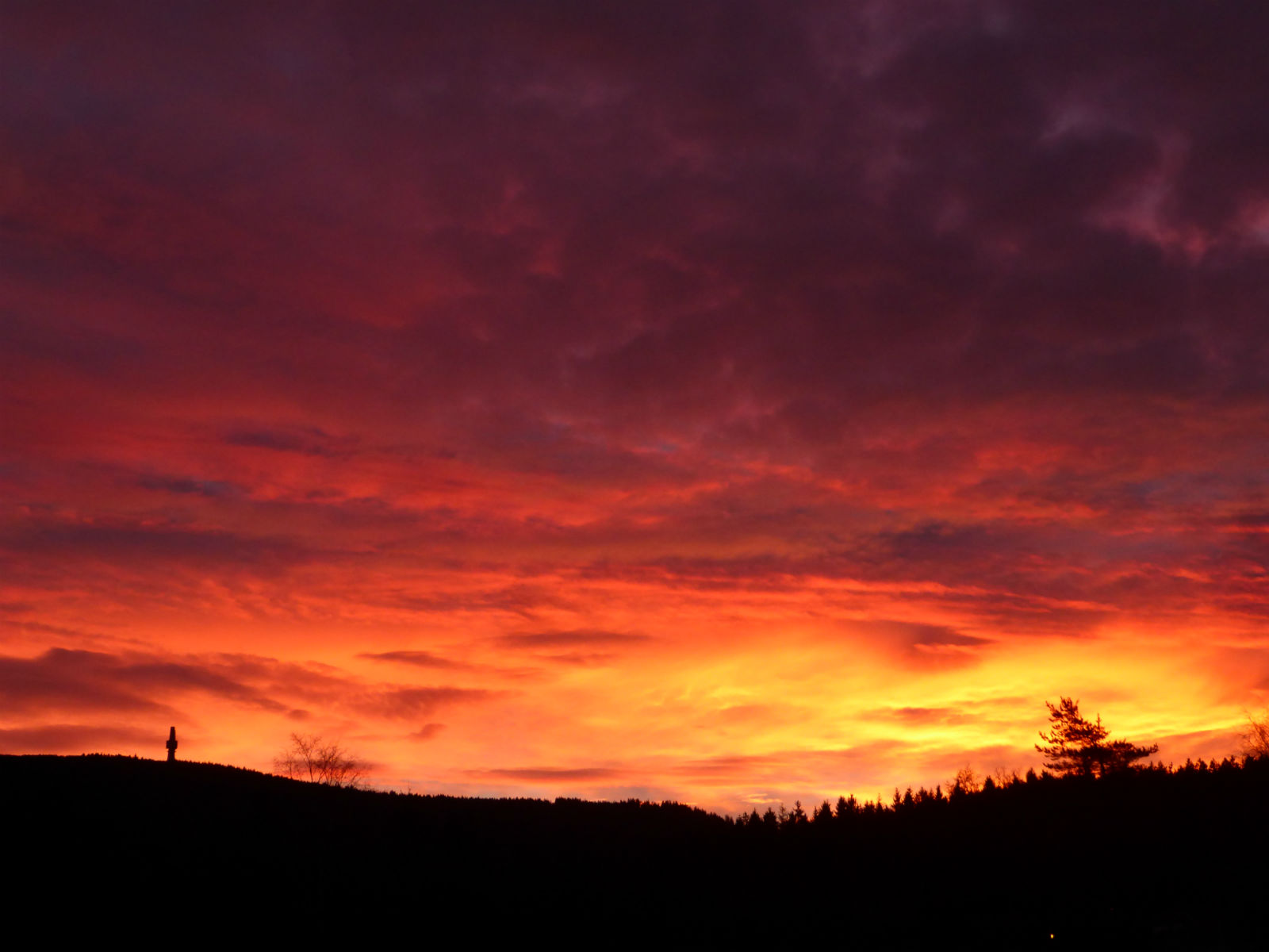 Fichtelgebirge-Winter-Sonnenuntergang-Sonnenaufgang