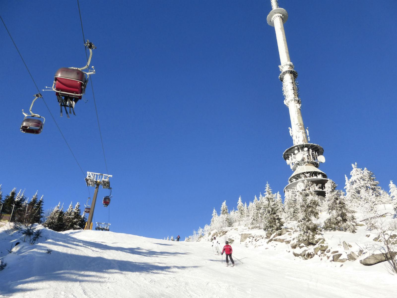 Fichtelgebirge-Wintersport-Skifahren-Ochsenkopf-Seilbahn